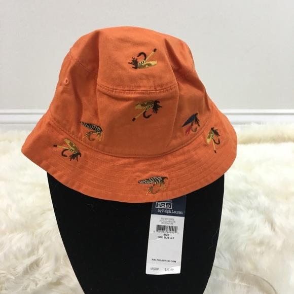 b129c0533de52 NWT Polo Ralph Lauren kids bucket fishing hat